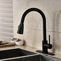 Promotion New Arrival Oil Rubbed Bronze with Cover Plate Kitchen Sink Faucet Single Handle