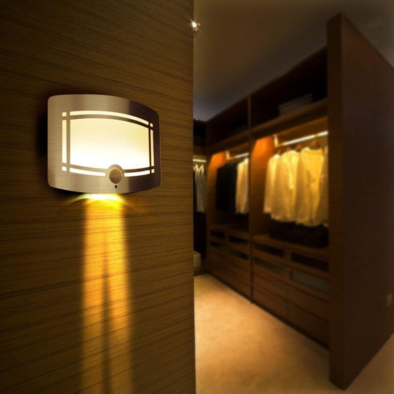 Drahtlose Infrarot Bewegungssensor Led-nachtlicht Batteriebetriebene Sensor LED Wandleuchte Pfad Wäsche Treppen Sensor Lampe