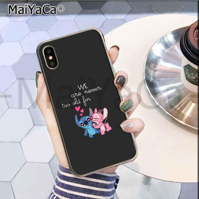 MaiYaCa かわいい漫画リロ新到着ファッションに販売電話ケースのための iphone 11 プロ 8 7 66S プラス × 10 55S 、 SE XR XS XS 最大
