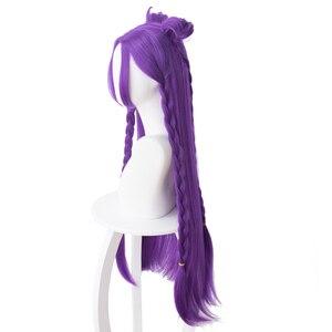 Image 3 - גבוהה באיכות LOL KDA Kaisa פאת קוספליי בת של הריק Kaisa פאה עמיד בחום סינטטי שיער פאות + כובע פאה