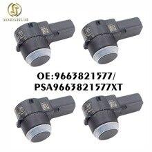 4PCS PDC Parking Sensor For Peugeot 307 308 407 Rcz Partner Citroen C4 C5 C6 9663821577XT PSA9663821577 6590A5 6590 EF