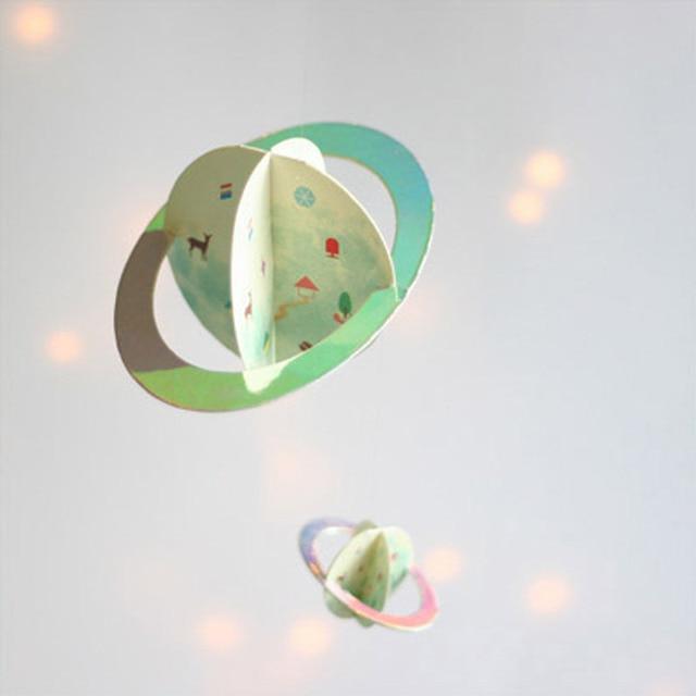 Globus Planeten Spinning Windspiele Papiergirlande Partei Dekor Hause  Hängen Dekorationen Baby Kinderzimmer Dekoration Handwerk Good Looking