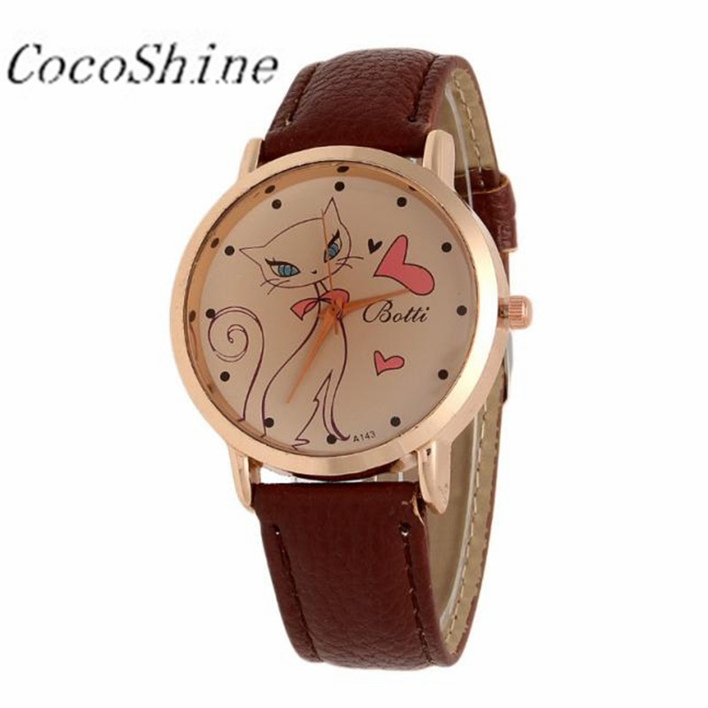 CocoShine A-733 Fashion Women Cat Pattern Leather Ban &