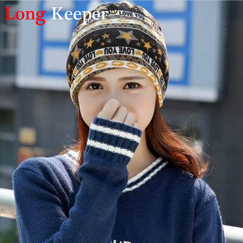 Long Keeper Pentacle Star Warm Skull Beanie Hip Hop Knit Cap Ski Crochet Cuff winter hat for Women Men pentacle star warm skull beanie hip hop knit cap crochet cuff winter hat for women men hot sale