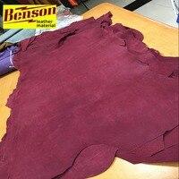 Красное Вино Натуральная свиная сплит кожи кожа Материал подкладки продажи на целый кусок