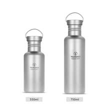TOMSHOO 550ml 700ml Full Titanium Water Bottle with Extra Plastic Lid Ultralight Outdoor Camping Hiking Cycling Water Bottle
