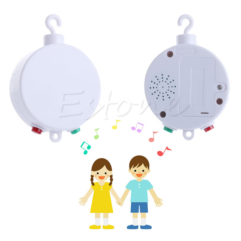 35 Song Rotary Baby Mobile Crib Bed Toy Clockwork Movement Music Box Infant Bell ...