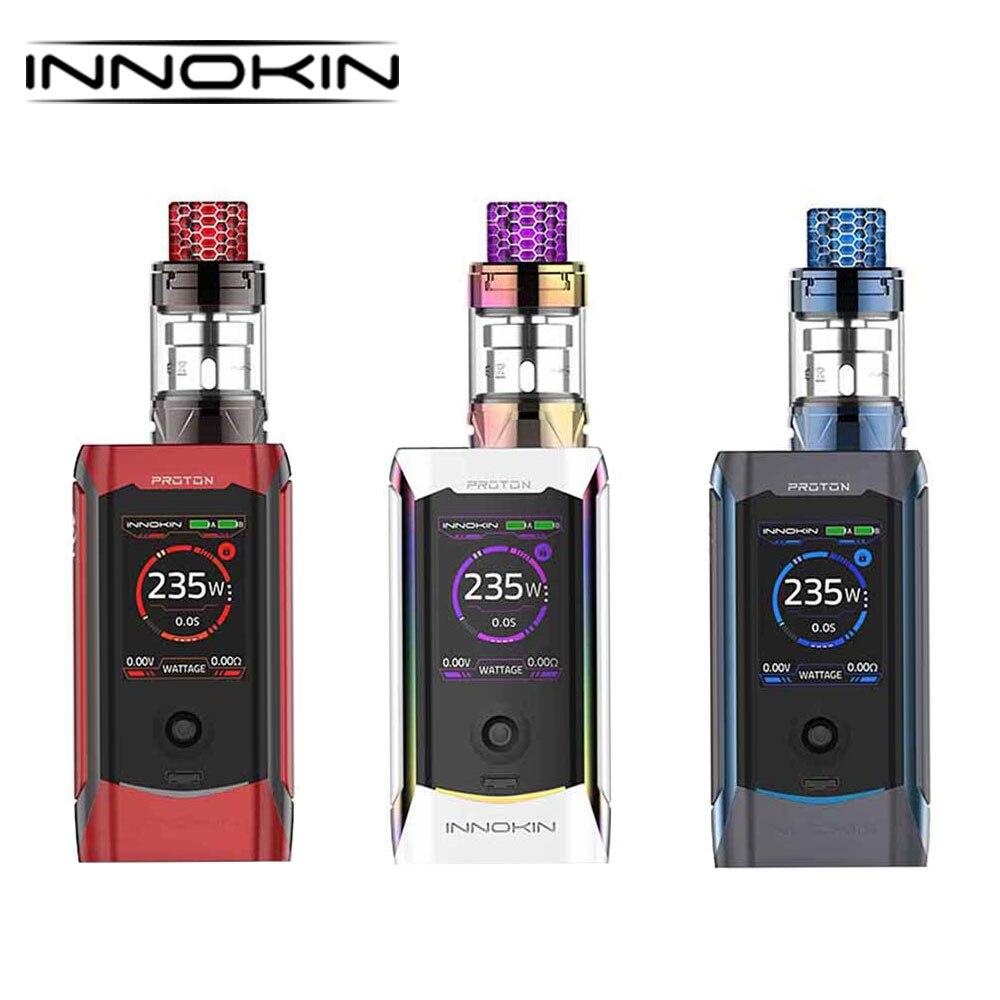 D'origine Innokin Proton Plex 235 W TC Kit TFT Affichage Écran Boîte Mod Atheon 235 W Chipset Ecigarette Kit Énorme puissance Vaping