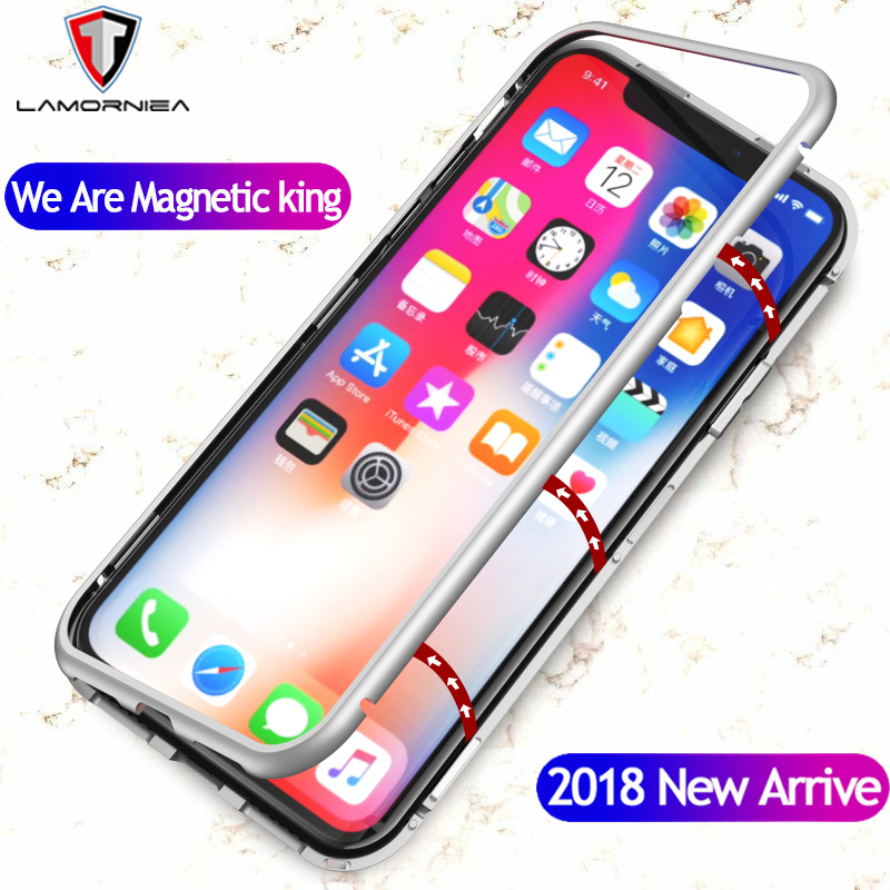 Lamorniea Magnetic Adsorption Case For iPhone X 7 8 Plus
