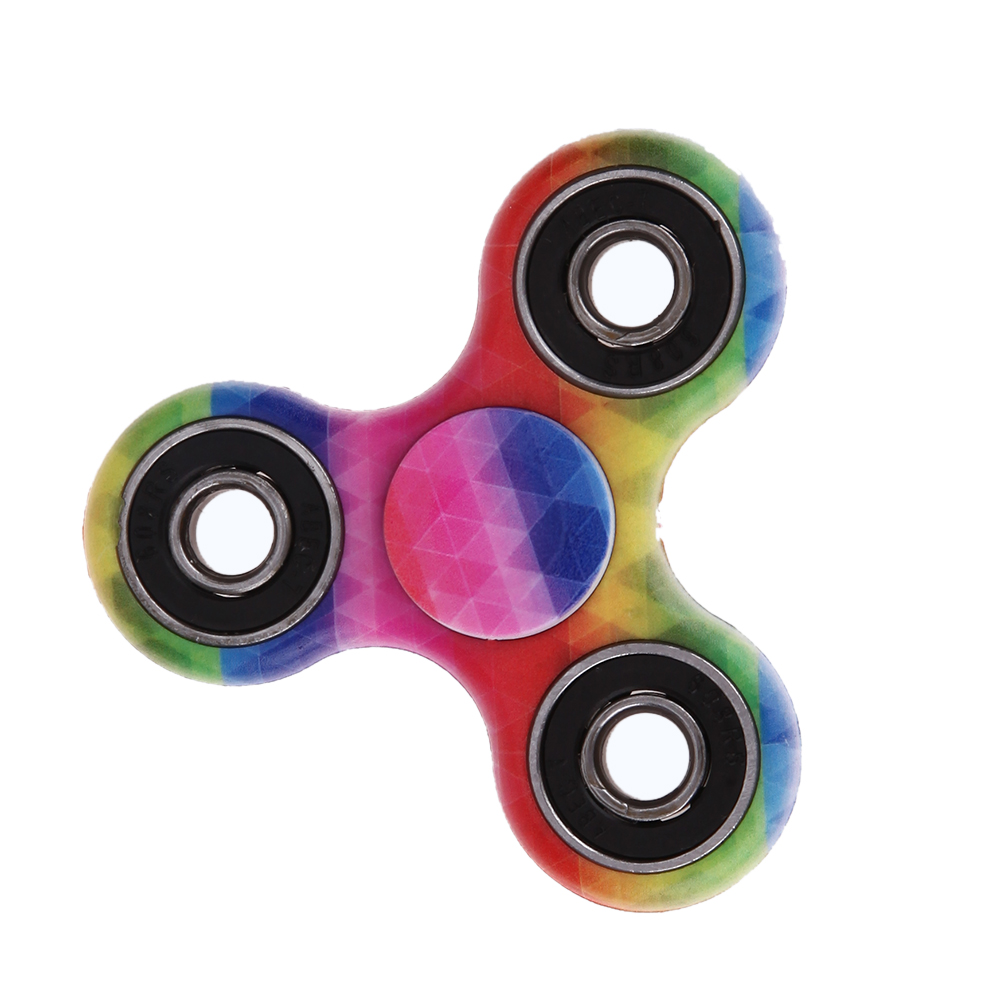 Colorful Tri-Spinner Fidget Toys EDC Sensory Hand Fidget Spinners Toy For Autism and ADHD Rotation Time Long Anti Stress Toys creative ceramic tri spinner fidget toy edc hand spinner for autism and adhd stress relieve toy rotation time beyond 6 minutes