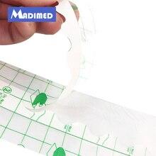 Водонепроницаемый прозрачная клеящаяся повязка на рану, фиксаж штукатурка Fixomull стретч-пленка pu рулон фиксации прозрачная лента пленка pu