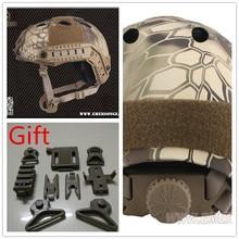Kryptek Highlander EMERSON Airsoft Tactical FAST Protective Helmet Pararescue Jump PJ TYPE EM5668H цена в Москве и Питере