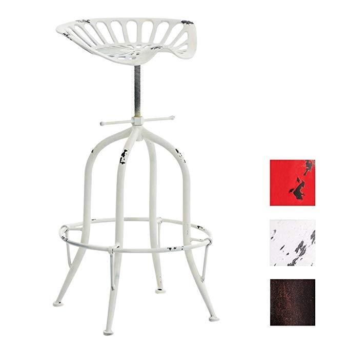 Adjustable Rustic Industrial Swivel Bar Stools Antique Vintage Industrial Ancient Design Metal Adjustable Bar Chair