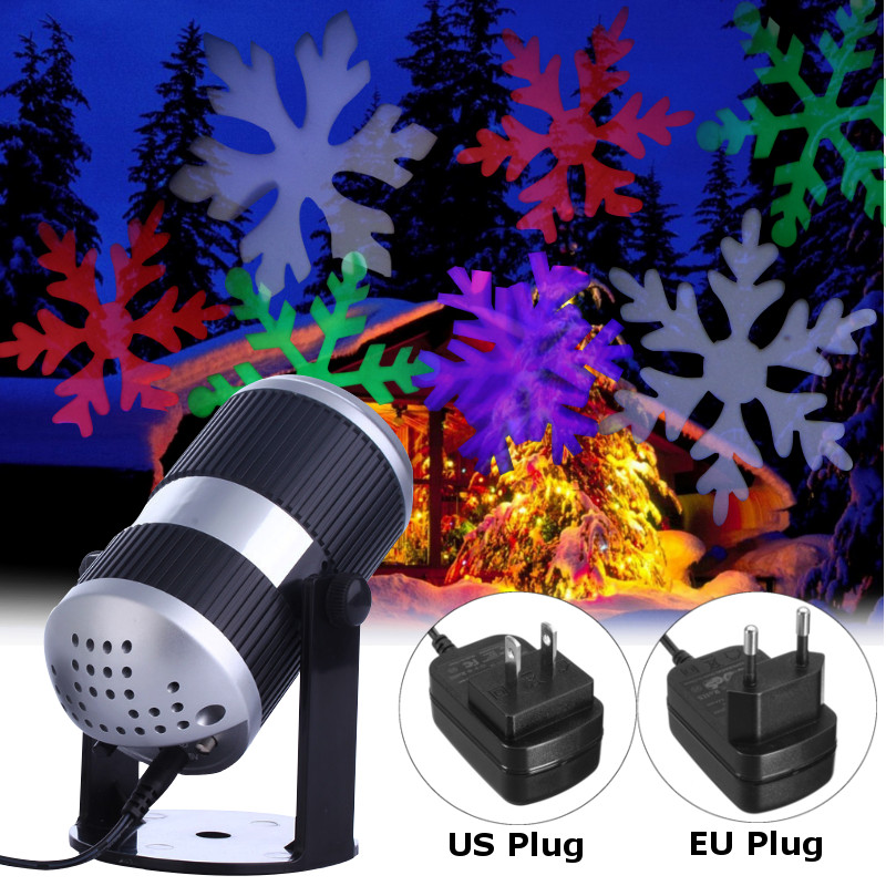 Smuxi Holiday Decoration Waterproof Outdoor LED Stage Lights Christmas Laser Snowflake Projector Lamp Home Garden Star Light цена 2017