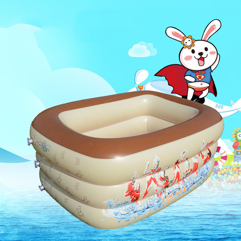 Portable Baby Inflatable Swimming Water Pool Square Style Children Bathing Pool Bathtub PVC Piscina Bebe Zwembad Thick and Safe environmentally friendly pvc inflatable shell water floating row of a variety of swimming pearl shell swimming ring
