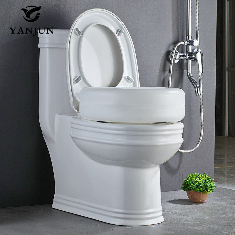 YANJUN Portable Raised Toilet Seat Elevated Toilet Seat Riser Removable  Comfortable Support Assists Disabled Elderly YJ