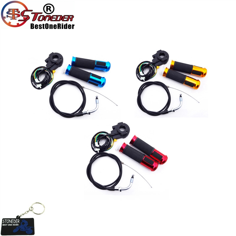 Kill Stop Switch Throttle Cable Hand Grips For Motorized Bicycle Dirt Push Bike