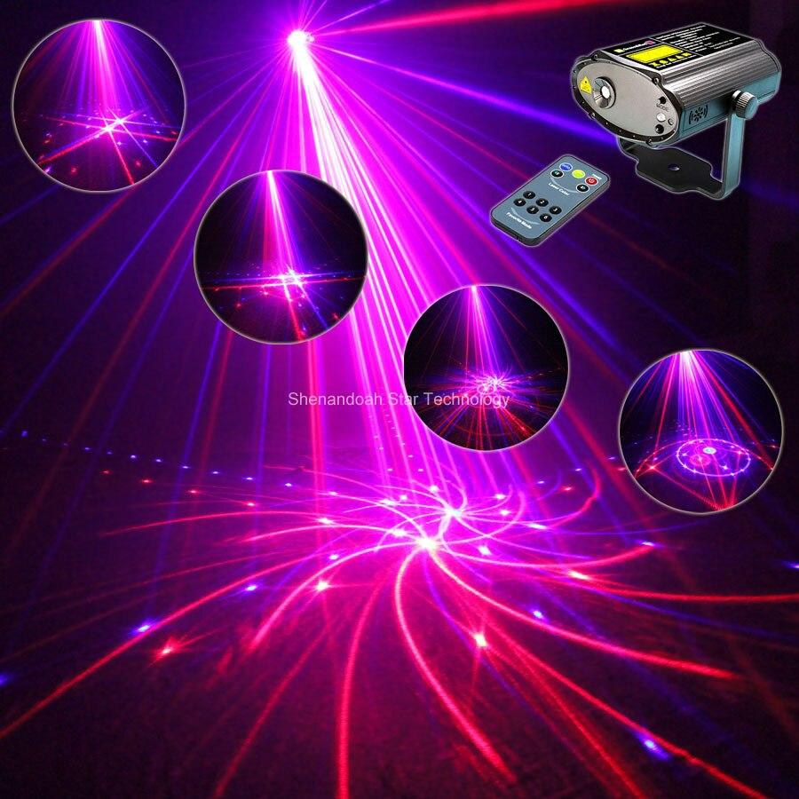 Mini R&B Laser Big 24 Patterns Projector Dance Disco Bar Family Party Xmas Stage Lights DJ environment lighting Light Show T94