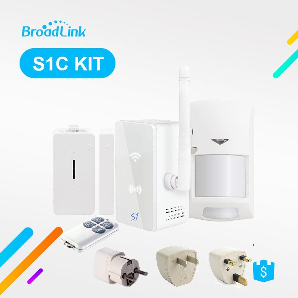 Broadlink S1 S1C Kit Domotique Système D'alarme de Sécurité Détecteur SmartOne Porte Capteur Télécommande Par IOS Android
