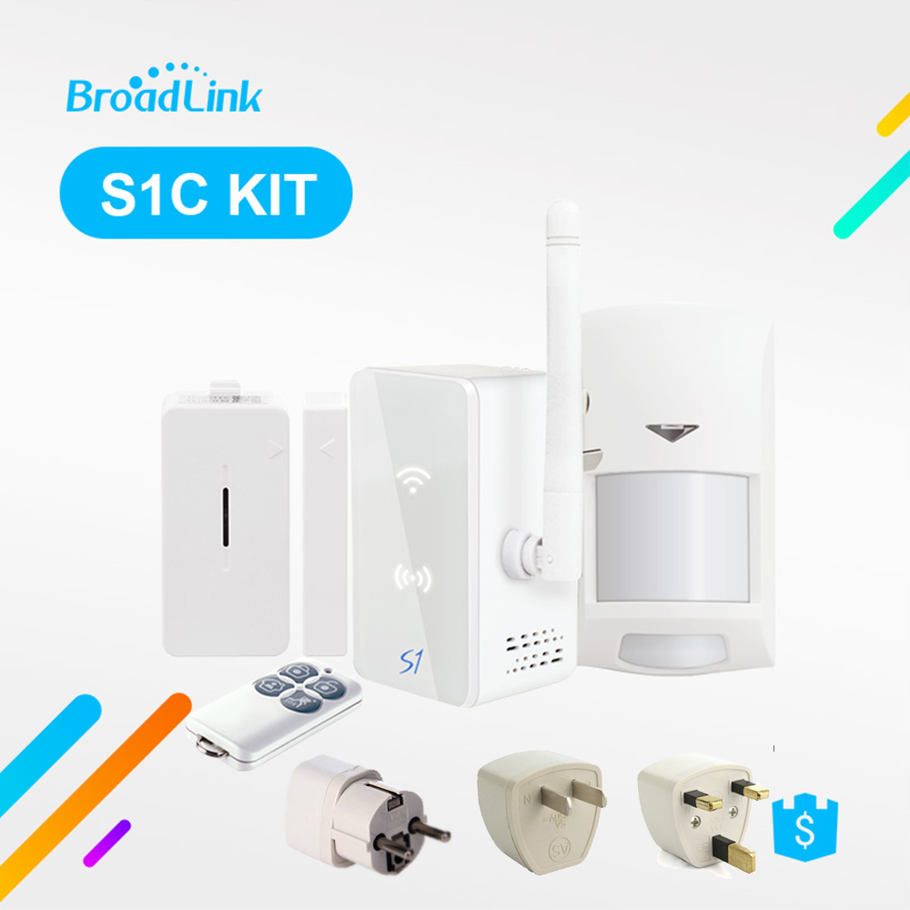 все цены на Broadlink S1 S1C Kit Home Automation System Security Alarm Detector SmartOne Door Sensor Remote Control By IOS Android онлайн