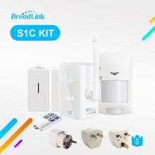 Broadlink s1 s1c kit sistema de automação residencial, detector de alarme de segurança, sensor de porta inteligente, controle remoto por ios e android