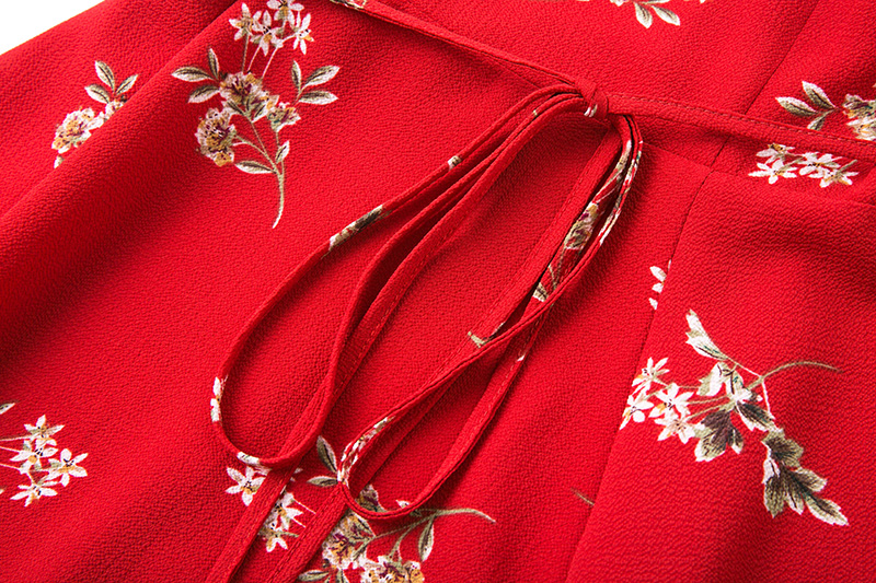 BONGOR LUSS Women Summer Dress 2017 V-Neck Cape Short Sleeve Casual Mini Dress Boho Beach Vinatge Floral Print Dress Sundress (10)
