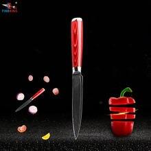 Кухонный нож из дамасской стали с деревянной ручкой 5 дюймов