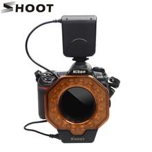 Фотография SHOOT Led Macro Ring Flash Light for Canon MarkIII Nikon Olympus Pentax SLR Cameras lens in diameter of 52/55/58/62/72/77mm