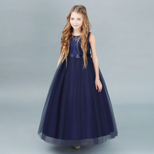 Girls Wedding Dress 2018 Sleeveless Fashion Teenager Summer Dresses For Girls Clothes Vestidos Kids Costume Children Dress