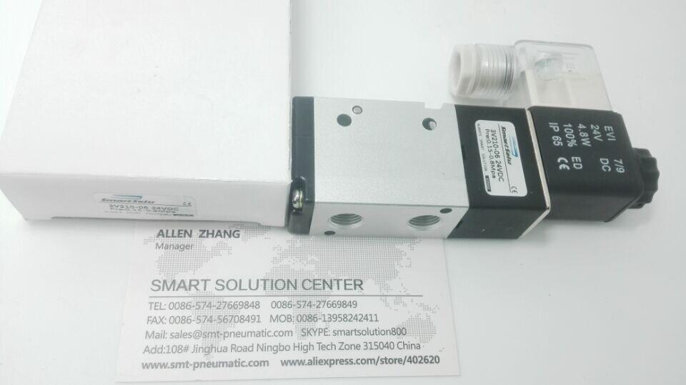 Livraison gratuite 1/8 ''vanne solénoïde électromagnétique pneumatique 3/2 voies DC 12 V 3V210-06, électrovanne de direction série 3 V