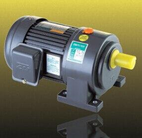 200 W pequeño AC engranaje motor 220Vac 60 hz 3 fase con brake1 # caja de cambios relación 201 instalación Horizontal de salida eje de 18mm de diámetro