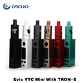Original Evic vtc mini with trons kit 1~75w wattage with upgrade big vape Evic vtwo mini box mod and 4ml atomizer Tron