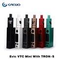 Original vtc mini con trons Evic kit 1 ~ 75 w de potencia con actualización gran vape Evic vtwo mini caja mod y 4 ml atomizador Tron