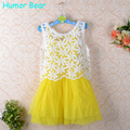 Humor Bear Girls Dress 2016 Brand Princess Dresses Girls Clothes Bud silk  Design for Kids Clothes