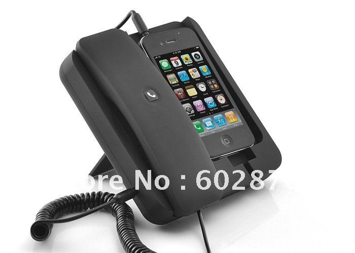 Phone Dock with Handset for iPhone4, Android Phones, 3.5mm