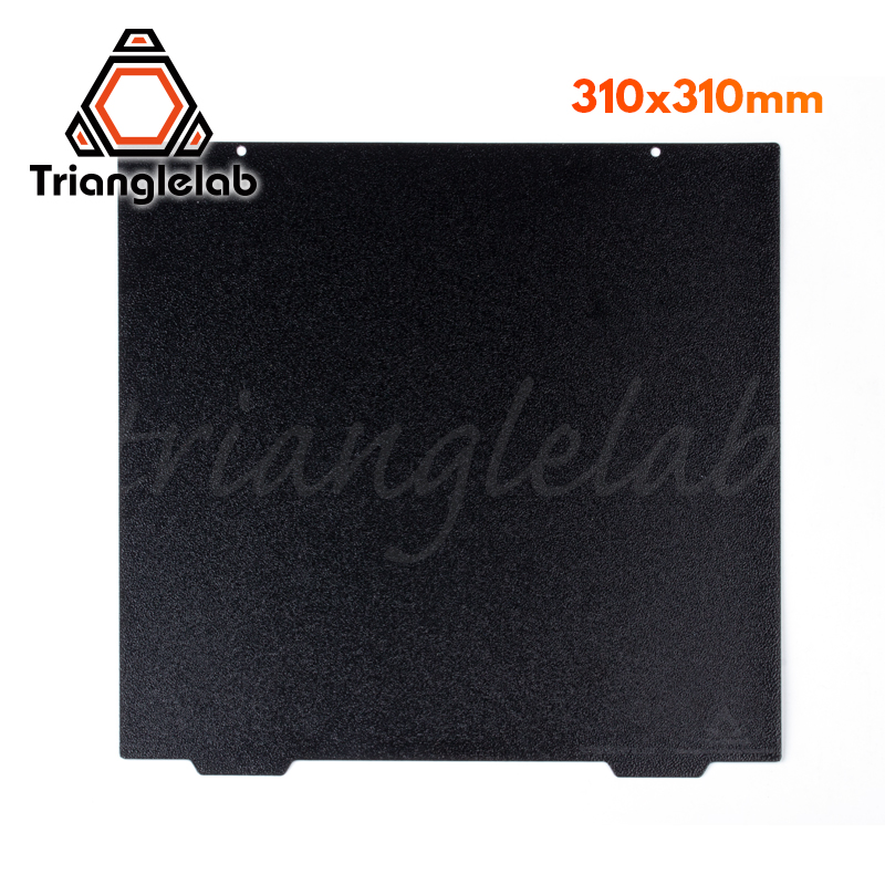 trianglelab 310 X 310 CR10 Double sided Textured PEI Spring Steel Sheet Powder Coated PEI Build