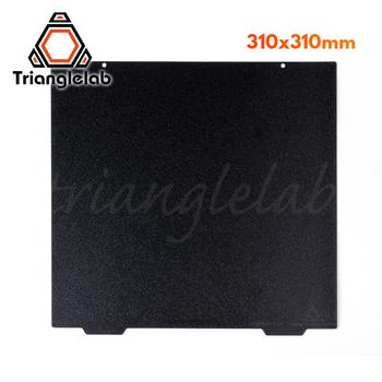 Trianglelab 310X310 CR10 dwustronna teksturowana blacha stalowa PEI sprężynowa malowana proszkowo płyta do zabudowy PEI do CR-10 tanie i dobre opinie Papier ciepła TL-FlexPlate-CR10 DFORCE