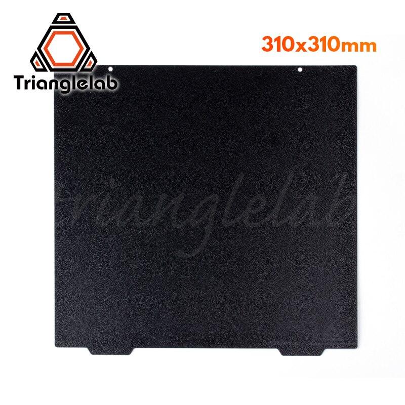 Trianglelab 310x310 cr10 dupla face texturizado pei primavera chapa de aço em pó revestido pei construir placa para CR-10