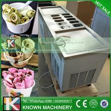 R410A Refrigerant Operated square fried ice cream pan ice cream machine