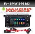 2016 Em Stock Car DVD Player para BMW E46 Navegação Android 5.1 com Wi-fi 3G GPS Bluetooth Radio RDS USB SD Frete grátis + Veio