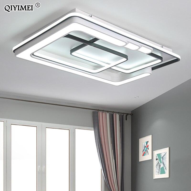 Moderne Led Runde/Platz/Rectangel Decke Licht wohnzimmer Schlafzimmer Leuchten Acryl LED Lampe Leuchte