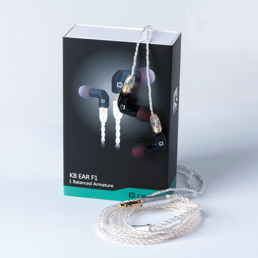 KBEAR F1 Balanced Armature HIFI Sport In Ear Earphone With 3 5mm MMCX Earbud Gold Plated Headset in Earphones from Consumer Electronics