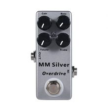 MOSKY MM Silver Electric Guitar Overdrive Effect Pedal Full Metal Shell True Bypass 10 pcs pb n1512 professional diy aluminum metal guitar effect pedal box 145 l x120 w x39 h mm