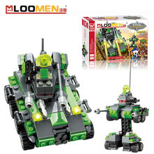New 206pcs/set DIY Building Blocks Toy Fire Hero No. 1 Action Figure Deformation Toys Children Educational Toy Kids Gifts