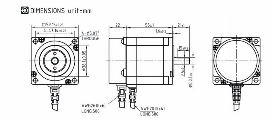 LCDA357H+LC57H3100 NEMA23 3NM 3PHASE Closed Loop Stepper Motor ... on nema 5-15 wiring diagram, nema 34 wiring diagram, nema 23 dimensions, nema 14 wiring diagram, nema 5-20 wiring diagram, nema 17 wiring diagram, nema 23 brakes,