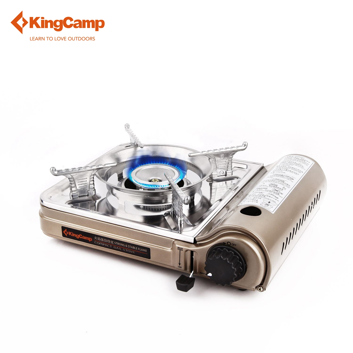 KingCamp Portable font b Camping b font Stove Outdoor Gas Stove for Hiking Trekking font b
