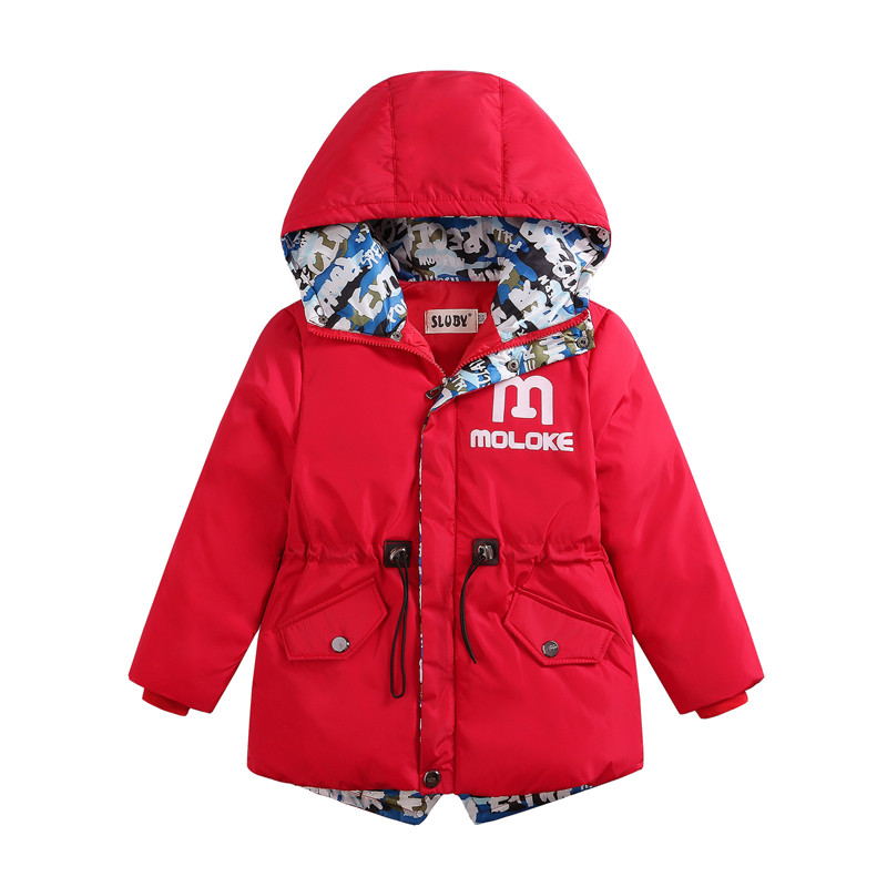 цена на 2017 Winter Cotton clothes Warm Kids Wadded Jacket Kids Thickening Down Brand Boy Design Coat Children's Clothing Down & Parkas