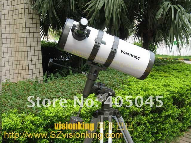 Visionking Good Quality 1501400 Equatorial Mount Space Astronomical Telescope 6 Inch Newtonian Reflector Astronomic Telescope entry level 3 inches 76 700mm reflector newtonian astronomical telescope black white
