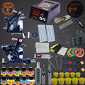 Free Shpping Tattoo Kit Two Machine Guns Tattoo Machine Set 10 Colors Ink Set Complete Tattoo Kits LED Power