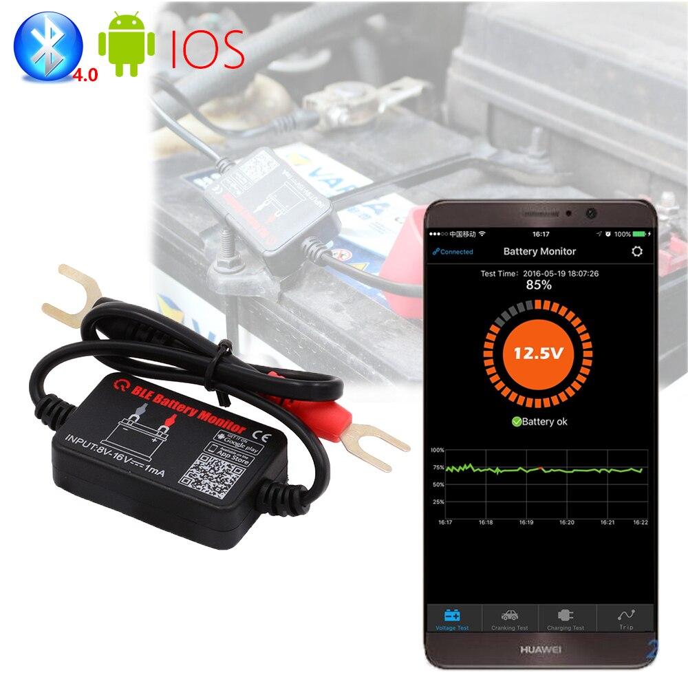 Prix pour Ancel 12 V Bluetooth 4.0 batterie moniteur Analyseur de diagnostic Surveillance En Temps Réel de voiture testeur de batterie 12 V pour Android IOS